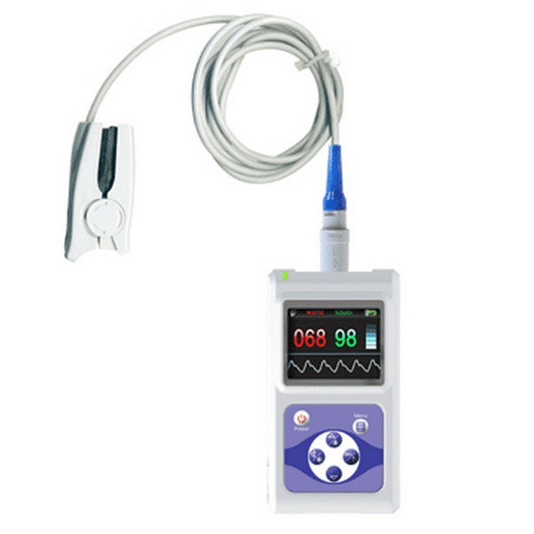 EMS Free Shipping CMS60D Color Screen Display Electronic Portable Handheld Pulse Oximeter With Software