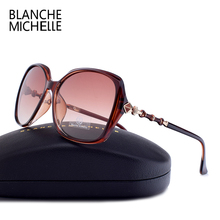 Blanche Michelle yüksek kaliteli kare polarize güneş kadınlar marka tasarımcısı UV400 Sunglass degrade Lens güneş gözlüğü kutusu