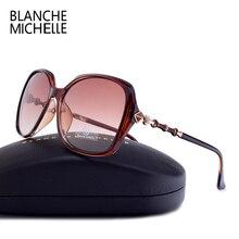 ブランシュミシェル高品質偏光サングラスの女性のブランドデザイナー UV400 サングラスグラデーションレンズでボックス