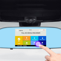 Dual Lens HD 1080P Car Driving Recorder Display With 5 IPS Touch Screen Auto Reverse Parking