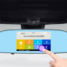 Dual Lens  HD 1080P Car Driving Recorder Display With 5″ IPS Touch Screen Auto Reverse Parking USB AV Camcorder Hot Selling