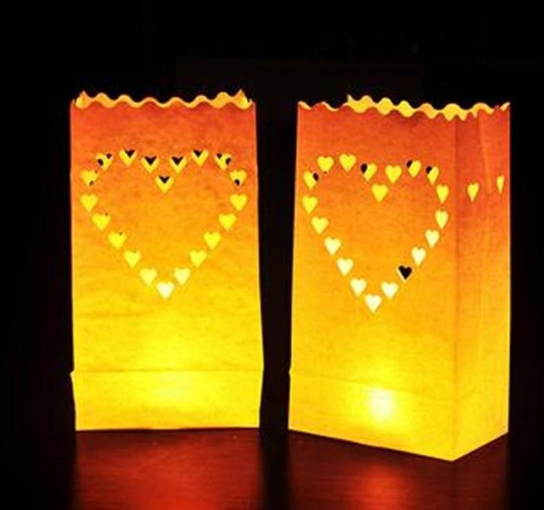 Festival Laterne Papier Laterne Kerze Tasche Im Freien Beleuchtung Kerzen für Hochzeit Dekorationen Event Pary Liefert 4 Muster