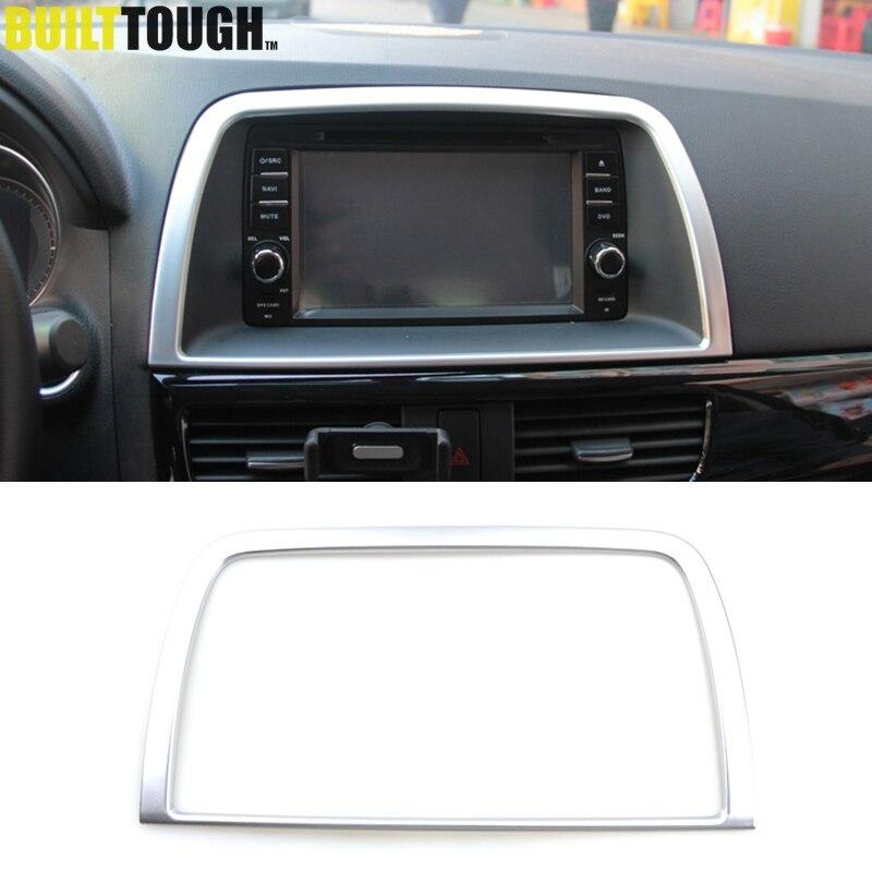 For Mazda Cx-5 Cx5 Ke 2012 2013 2014 2015 2016 Chrome Interior Dashboard Center Control Navi Screen Cover Trim Frame Decoration