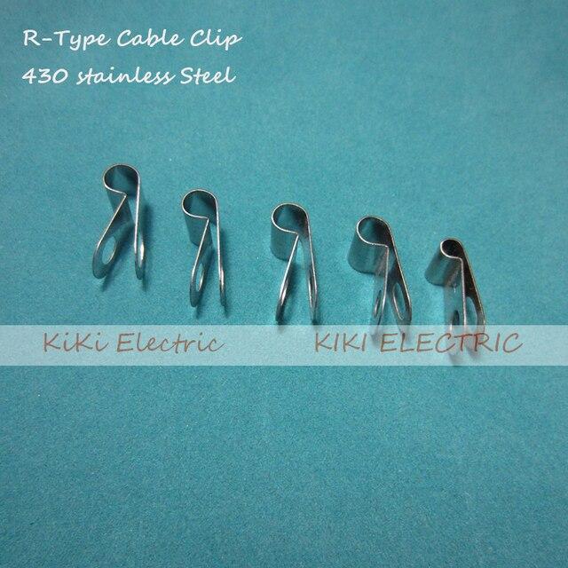 100 teile/los R typ 430 Edelstahl Kabel Clip/Draht Halter 4,8mm ...