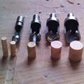 """4 unids enchufe cortador Drill Bit Set herramientas 1/4 """" 3/8 """" 1/2 """" 5/8 """" carpintería carpintería de madera Plug herramienta de corte del cortador Drill Bit Set"""