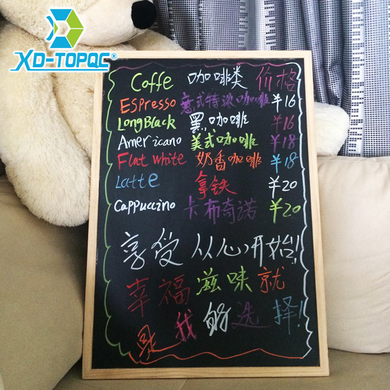 Wood Frame Magnetic Blackboard Chalkboard Message Board 60*90cm For Restaurant Office Drawing Boards Factory Direct Sell