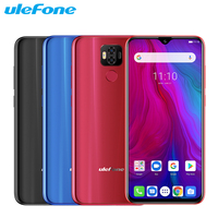 Original Ulefone Power 6 Mobile Phone 6.3 inch 4GB RAM 64GB ROM Helio P35 Octa core Android 9.0 NFC Smartphone