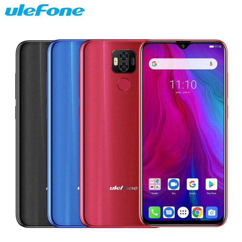 Original Ulefone Power 6 Mobile Phone 6.3 inch 4GB RAM 64GB ROM Helio P35 Octa-core Android 9.0 NFC Smartphone
