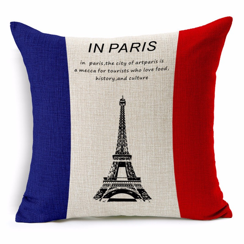 Paris Pillowcase Cushion Cover