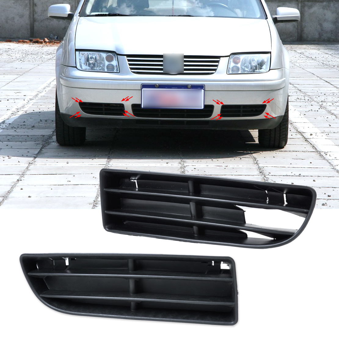 Dwcx 1j5853665b 1j5853666c front lower grille bumper vent for volkswagen vw jetta bora mk4 1999