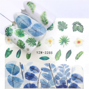 Image 5 - 1pc Water Nail Stickers Decal Marine Life Flamingo Leaf Transfer Nail Art Decorations Slider Manicure Watermark Foil Tips