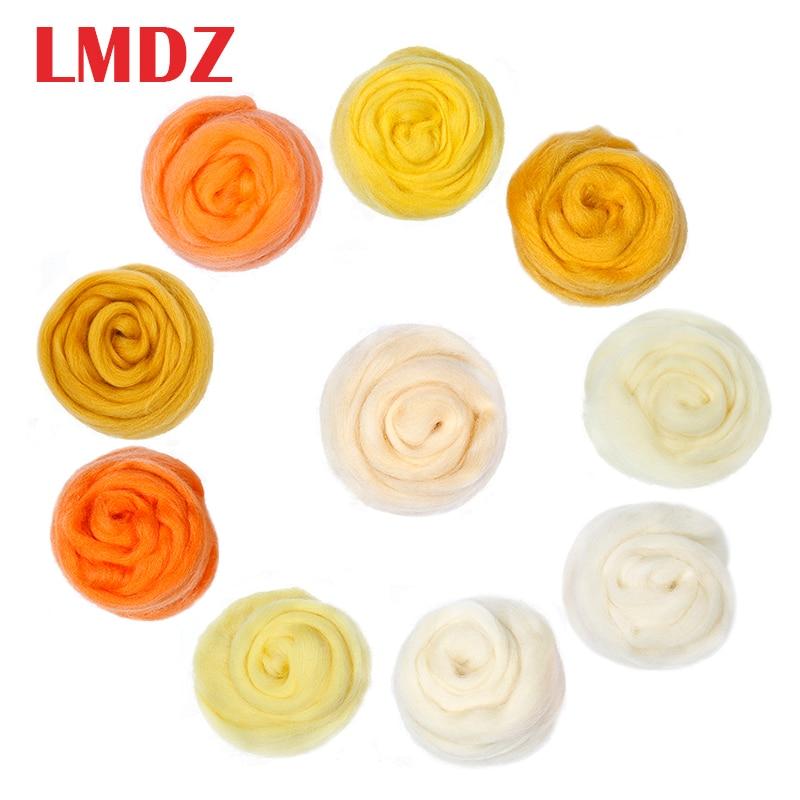 LMDZ 1 шт. 50 г желтый цвет Шерстяное волокно ровинг для иглы валяния ручной работы DIY прядильное волокно Рукоделие швейные изделия Материал|Волокно| | АлиЭкспресс