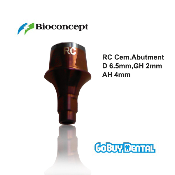все цены на Straumann Compatible Bone Level RC Cementable abutment, D6.5mm, Gingiva height 2mm, Abutment Height 4mm онлайн