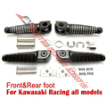 Motorcycle Front Rear Foot Pegs Pedals Footrest For Kawasaki Z800 Z750 Z1000 ER6F ER6N all model Universal