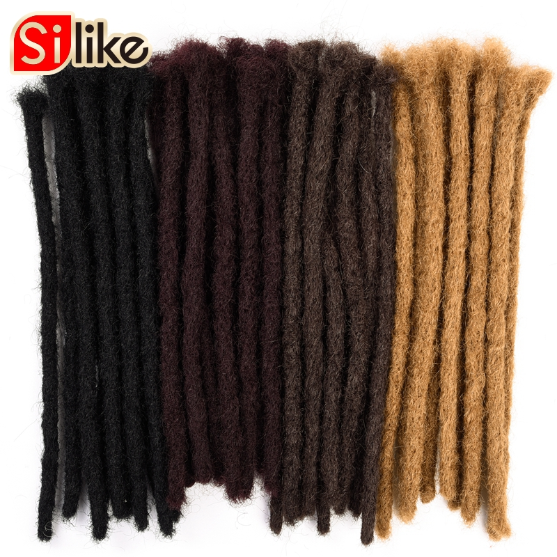 Dreads Handmade Synthetic Dreads Black Dreadlocks Extensions 613 Fashion Hip-Hop Style 10 Strands/Pack Synthetic Braiding Hair