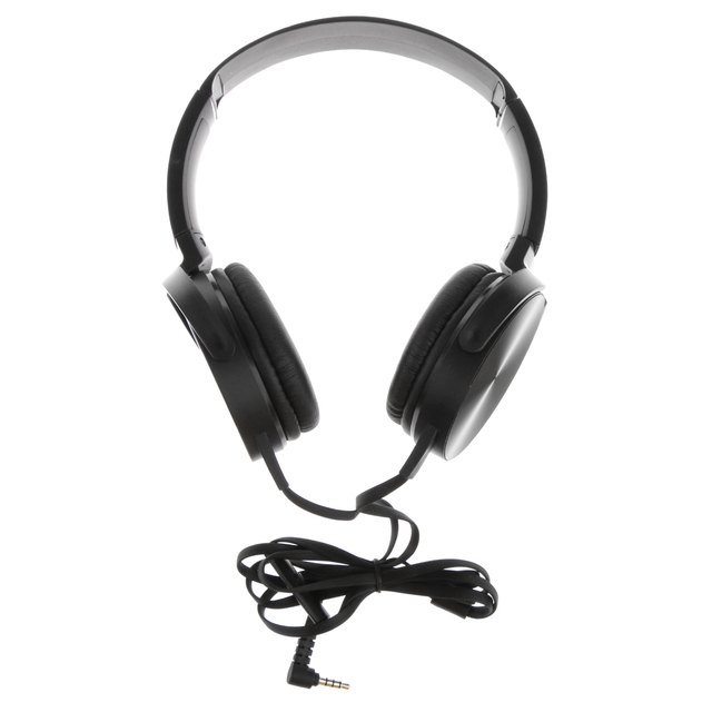 Foldable 3 5mm Jack Flat Noodle Corded Headphones Wired Sport