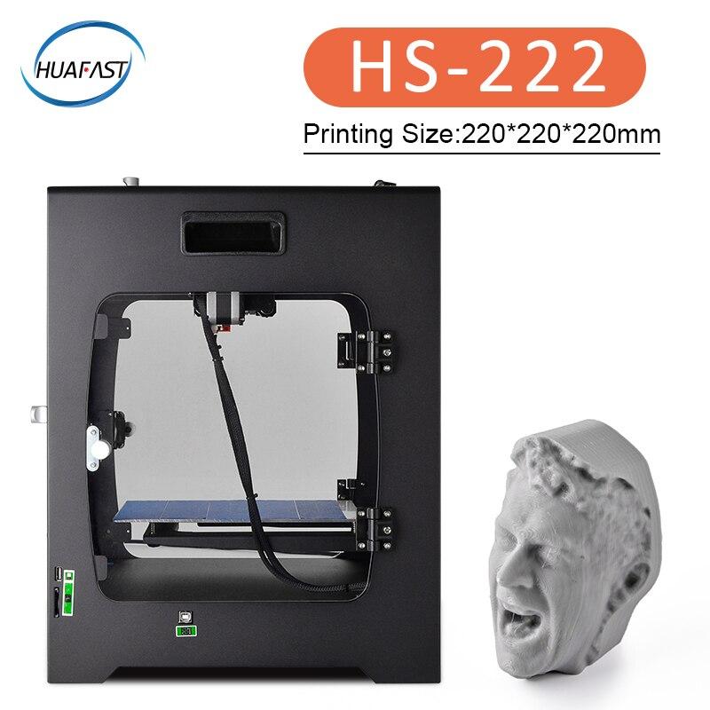 HS 222 3d принтер большой размер печати impressora 3d Платформа Рабочий стол промышленный класс Wi Fi облако USB кабель Высокая высокоточная печать