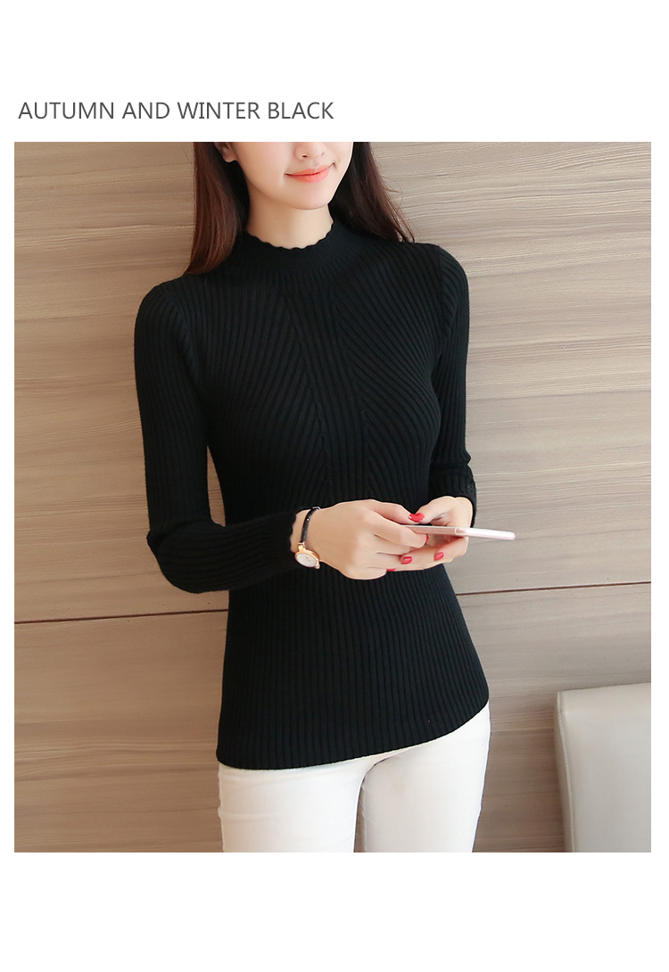 Knitted Sweater Turtleneck