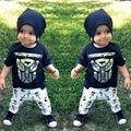 2 PCS Conjuntos de Roupas Crianças Menino de Verão Do Bebê Recém-nascido Bonito do Tigre Dos Desenhos Animados T Shirt + Calças Compridas Outfits Ternos Traje Novo 1 2 3 4 5Y