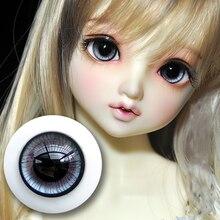 Bybrana Bjd eyeball имеет небольшой Ирис sd моделирование темно-серый стеклянный глаз 12 мм 14 мм 16 мм 18 мм 20 мм
