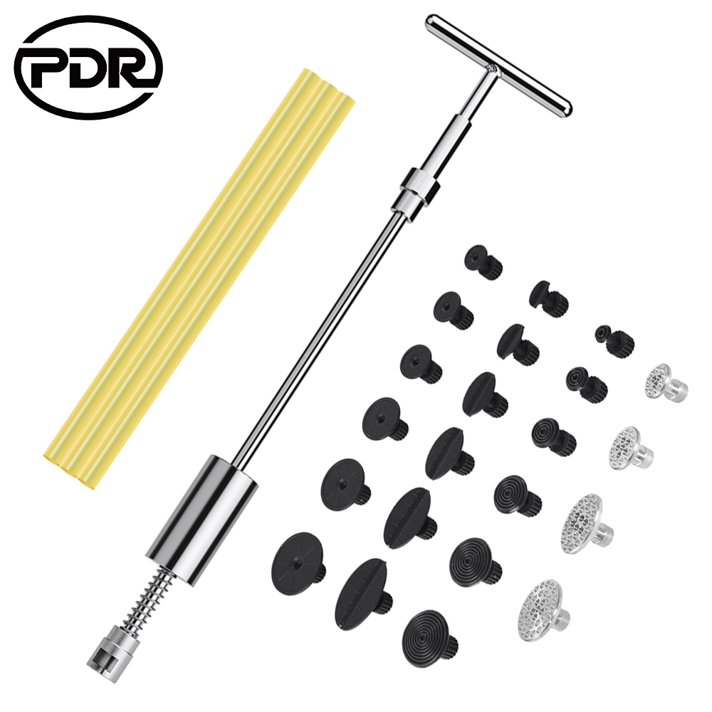 PDR Tools Reverse Hammer Paintless Dent Repair Set Dent Removal Puller Kit Slide Hammer Glue Suction Cup For Car Remove Hail