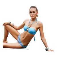 2014 New European And American Retro Polka Dot Rose High Waist Bikini Swimsuit