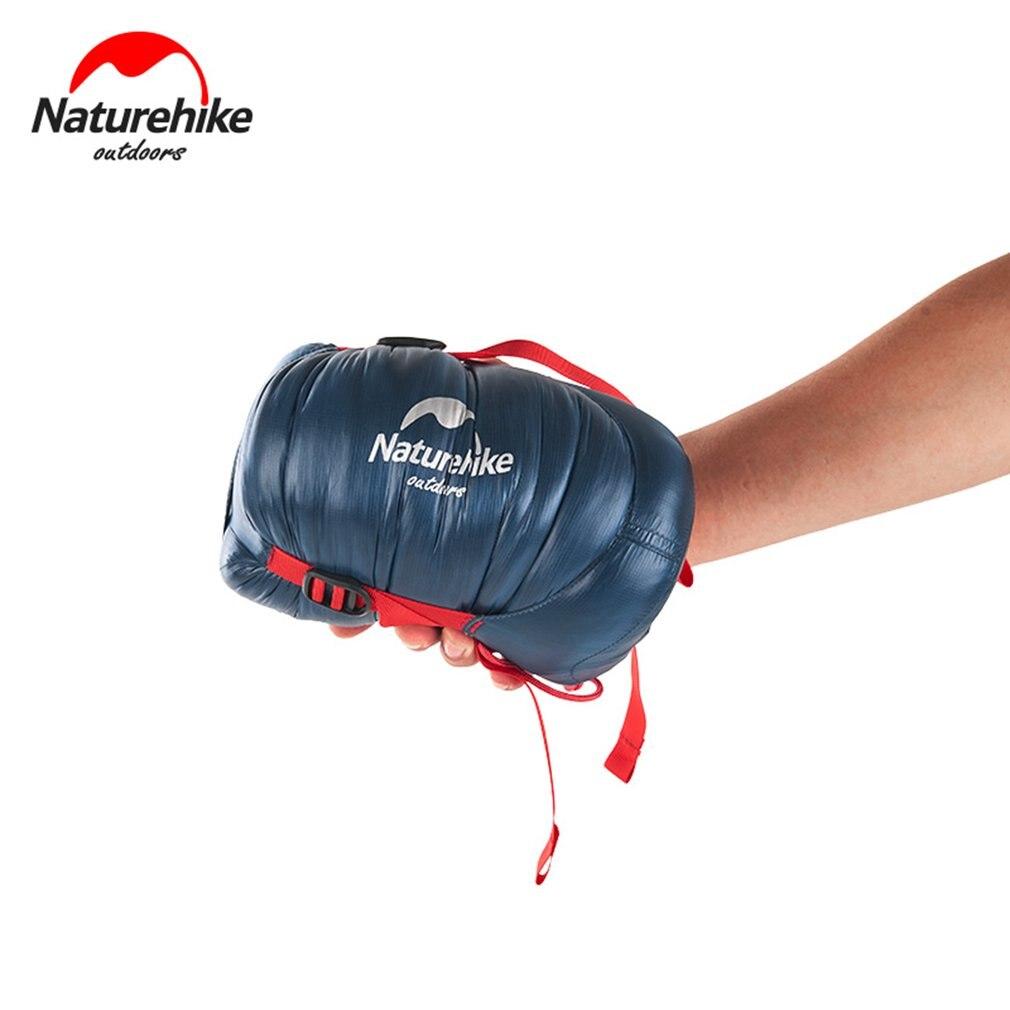 Naturehike Водонепроницаемый утолщаются гусиного пуха спальный мешок Ultra Light Открытый Пеший Туризм Кемпинг конверт Sleed сумка для одного человека
