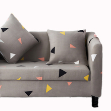 Grau dreieck Stretch Sofa Schonbezug kurze Druck Elastischen Stoff Stuhl Sofa Sofa Abdeckung Haustier Katze Hund Schutz