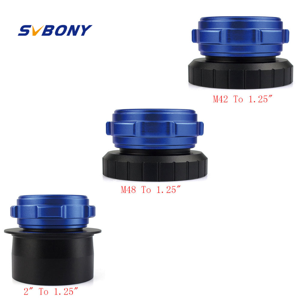 SVBONY S8150 M42 To 1.25 /2 to 1.25/ M48 to 1.25 Mount Adapter Coaxial Lock Astronomy Telescope Eyepiece Interface W2376 de luxe 893744 1