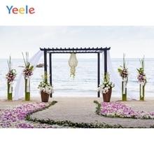 цены Yeele Vinyl Romantic Wedding Ceremony Seaside Flowers Photography Backdrops Love  Photographic Backgrounds For Photo Studio