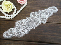 1 Pcs The New White Gauze Embroidery Lovely Fruit Pineapple Cloth Wedding Accessories Clothing Fabric Patch