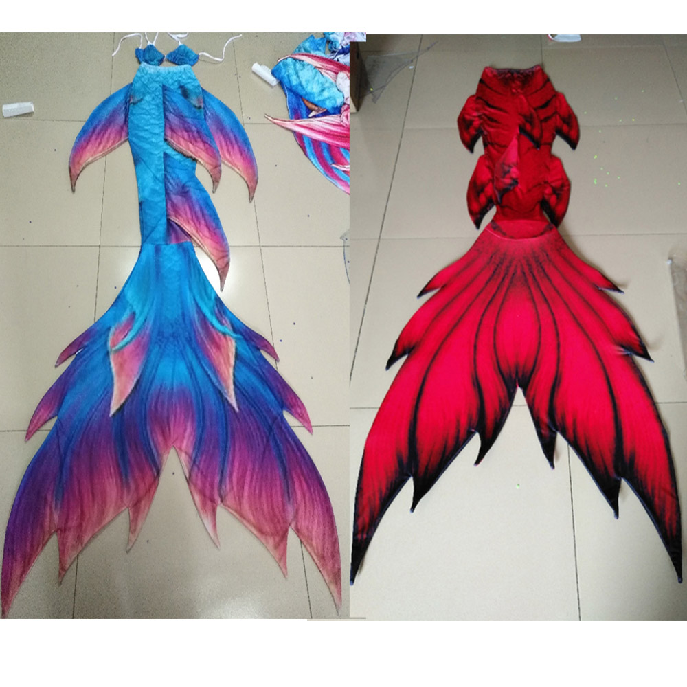 Factory Direct Sale Adults Mermaid Tail monofin Swimmable Swimsuit Flipper for girls kids Birthday gifts Swimwear