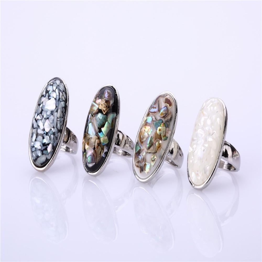 sale 5 pcs cute boho natural shell vintage big rings for