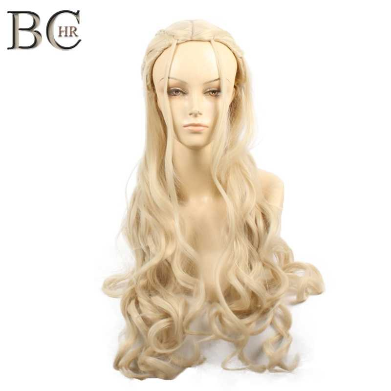BCHR Game of Thrones Daenerys Targaryen Cosplay Wig Synthetic Hair  Dragon of Mother Wigs Halloween Party Costume for Women