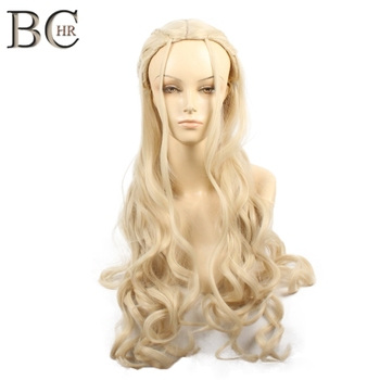 BCHR Game of Thrones Daenerys Targaryen Cosplay Wig Synthetic Hair  Dragon Mother Wigs Halloween Party Costume for Women
