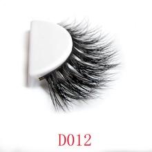 Wholesale Natural 3D 100% Real Mink False Eye Lashes/ Mink Individual Fake Eyelashes Extensions For Makeup Free Shipping 2015D12