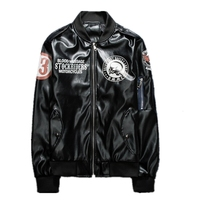 Free shipping 1pcs Cool Men's Outdoor Motorcycle Racing PU Leather Jacket Riding Coat Jacket