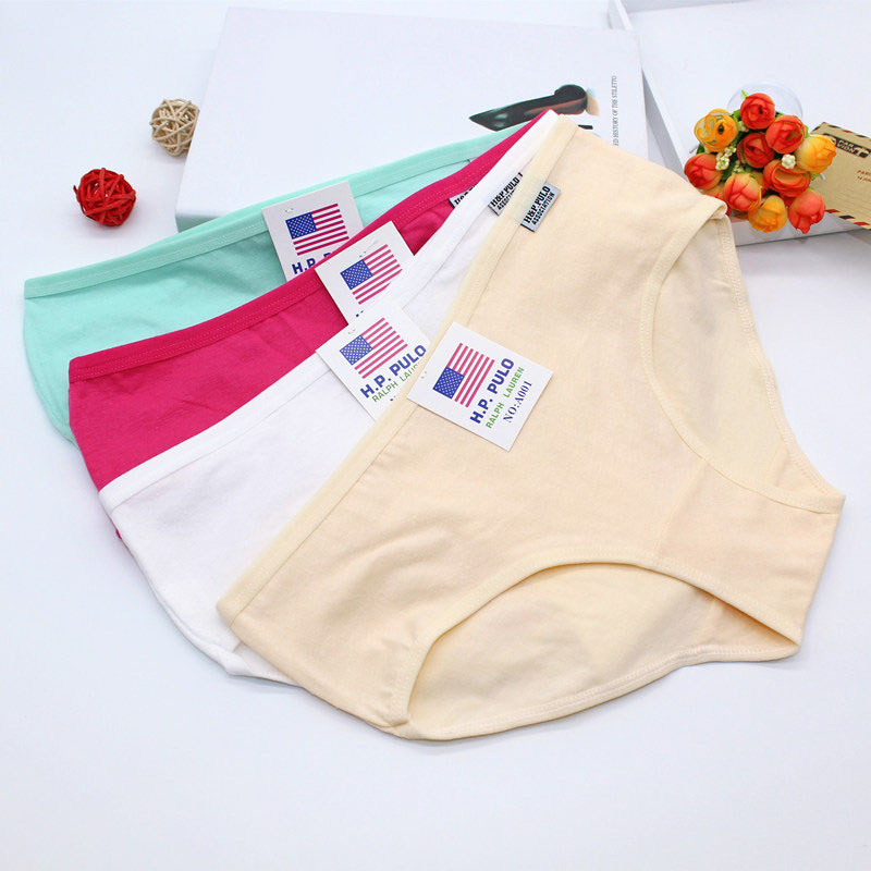 Panties Briefs Underpants Candy Color Comfortable For Female Plus Size Soft Cotton Fashion Ladies Women Underwear Briefs