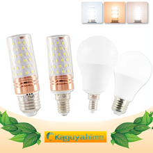 E27 LED Bulb E14 Lamp 3W 6W 9W 12W 16W SMD2835 AC 220V 240V Corn led Lampada Bombilla Ampoule For Home Decoration Light