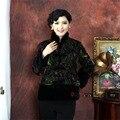 Многоцветные Китайская Традиция женщин Среднего Возраста Бархат Ватные Куртки Благородный Тан Костюм Верхняя Одежда Ml XL XXL 3XL 4XL