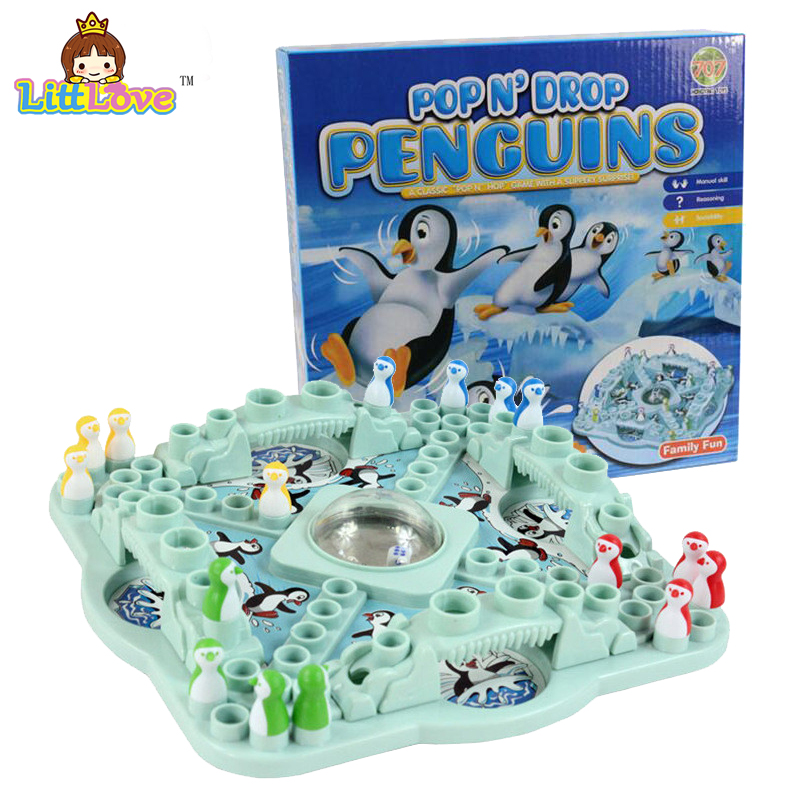 LittLove Family Competition Game POP N'drop Penguins Toys Board Chess Parent-Kid Funny Game Puzzle Education Classic Desk Toys