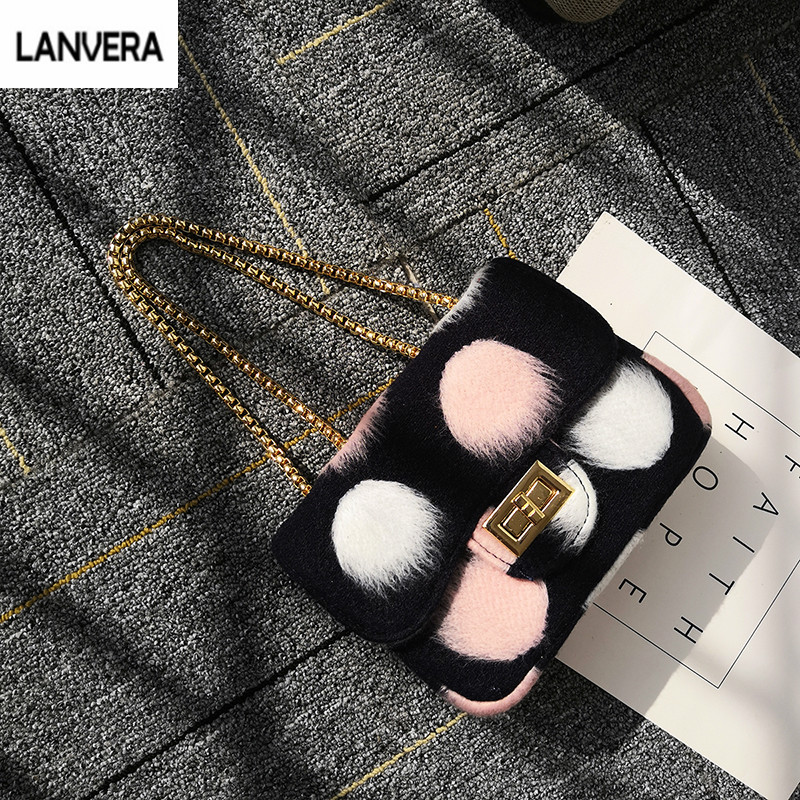 Dinner Party Clutch Single Handbags Lady Winter Soft Warmth Litte Bag Day Clutches Faux Fur Comfortable Graceful Evening gg Bags