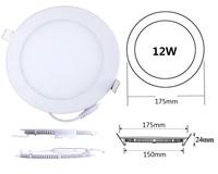 HOT LED Lighting 12W Ultra Thin Panel Light Recessed Led Ceiling Light