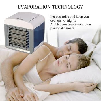 Convenient Air Cooler Fan Portable Digital Air Conditioner Humidifier Space Easy Cool Purifies Air Cooling Fan for Home Office 1