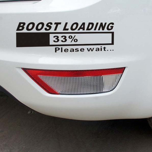 2 Colors Turbo BOOST LOADING Car Stickers for Volkswagen Scirocco Golf 6 VW Scirocco CC Tiguan POLO Car styling