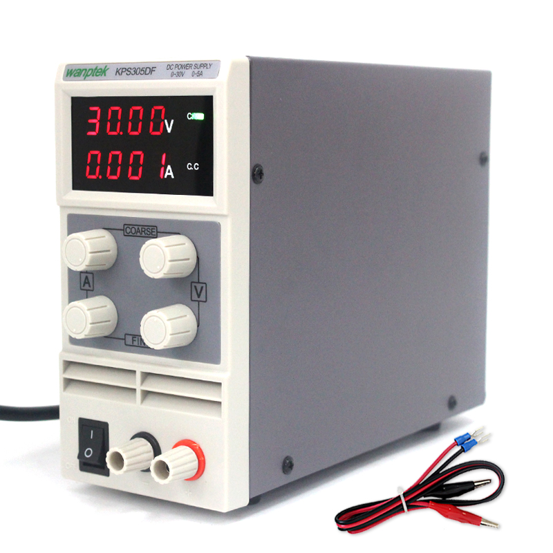 Wanptek KPS305DF 4 Digits LED 30V 5A Mini DC Power Supply High Precision Variable Adjustable switching Power Supply 0 30v 0 20a output brand new digital adjustable high power switching dc power supply variable 220v