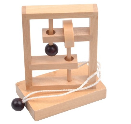 3D Ξύλινα String παζλ μυαλό εγκεφάλου παιχνιδιών παιχνίδι παιχνιδιών για ενήλικες παιδιά