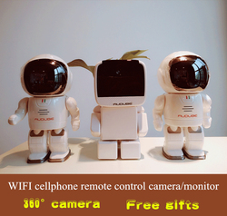 High quality Wireless WIFI network 360 HD camera / vidicon with cellphone remote control high definition monitor