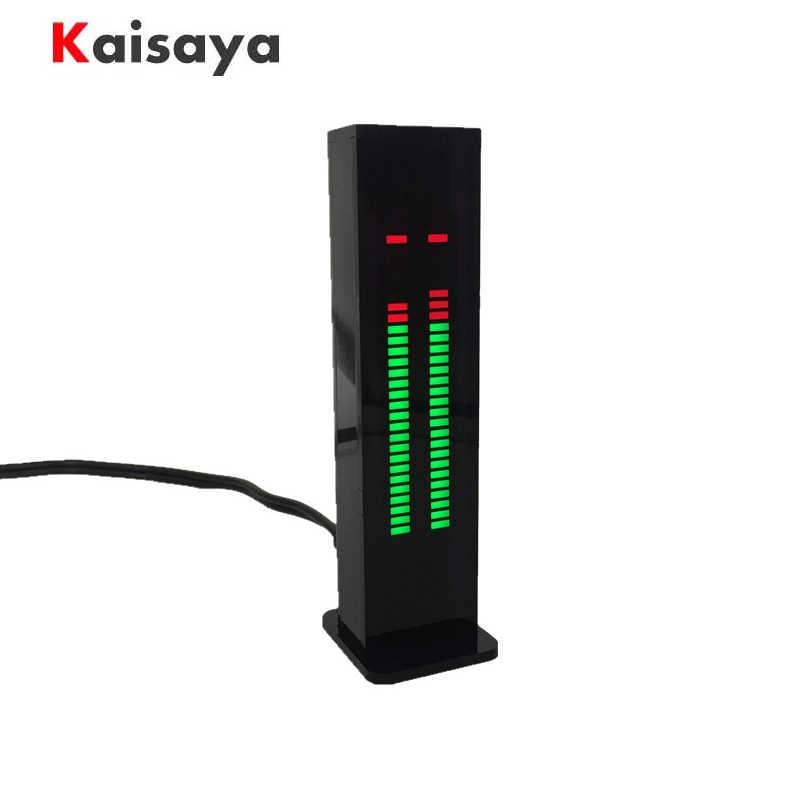 AS30 LED מוסיקה אודיו ספקטרום מחוון מגבר לוח SCM סטריאו רמת מחוון VU מטר מהירות מתכוונן עם F9-013