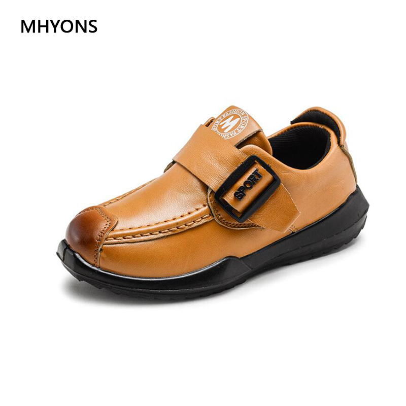 New Childrens Leather Casual Shoes Boys And Girls Waterproof Non-slip Leather Shoes Childrens Wedding Shoes Boys Outdoor Shoes